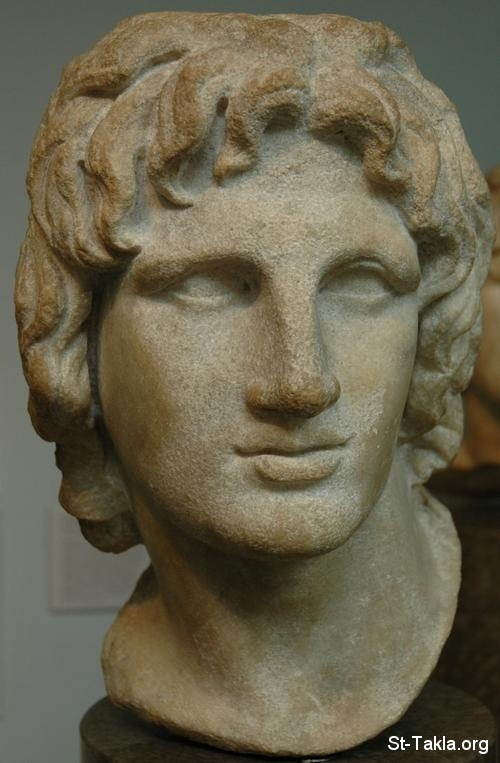 St-Takla.org Image: Alexander the Great (Alexander III) marble statue bust ���� �� ���� ������ ����: ���� ����� ���� ���� �������� ������ �������� �� �������