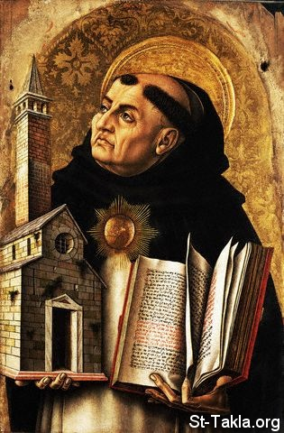 St-Takla.org Image: Depiction of St. Thomas Aquinas from The Demidoff Altarpiece by Carlo Crivelli ���� �� ���� ������ ����: ����� �������� �� ������� ������� ������ ����� �������