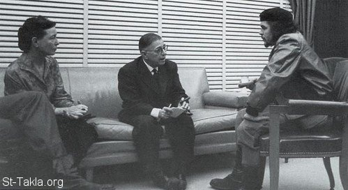 St-Takla.org Image: Ernesto Che Guevara reunited with Simone de Beauvoir and Jean-Paul Sartre, in Cuba. 1960, photo: Alberto Korda ���� �� ���� ������ ����: ����� �� ������� ��� ������ �� ����� �� ������ � ��� ��� ����� �� ���ǡ 1960� ����� ������� �����