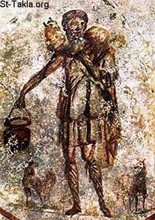 St-Takla.org Image: The Shepherd of Hermas, or the Good Shepherd, 3rd century, Catacombs of Rome ���� �� ���� ������ ����: ���� ����ӡ �� ������ ������ - ���� �� ����� ������ �������� �� ����� ����