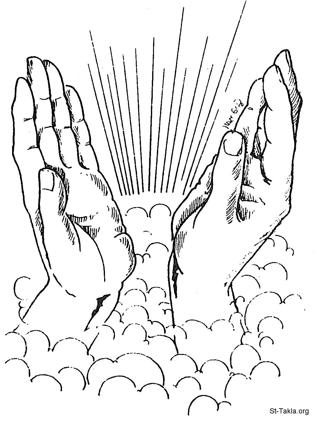 Image: Praying hands صورة يدان مصليتان، يدا المسيح