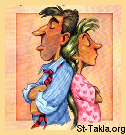 St-Takla.org Image: Angry husband and wife, marital problems ���� �� ���� ������ ����: ����� ������ ����� �����