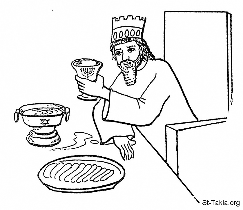 Image A King Eating And Drinking Br