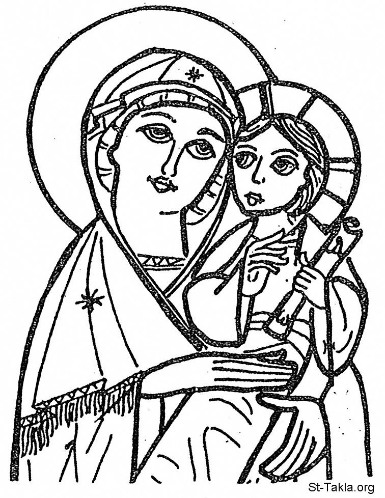 Image: Mary Coptic Baby Jesus 01