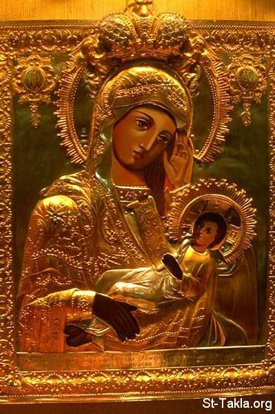 St-Takla.org Image: Icon of Saint Mary the Queen and Jesus the King ���� �� ���� ������ ����: ���� ������� ���� ������ � ���� �����