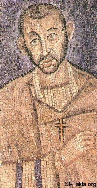 St-Takla.org Image: Saint Ambrose of Milan - Mosaic from the church St. Ambrogio in Milan ���� �� ���� ������ ����: ���� ������� ������ ��������� ���� �����