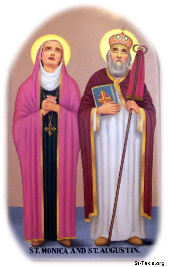 St-Takla.org Image: Saint Augustine Bishop of Hippo and St. Monika His mother ���� �� ���� ������ ����: ������ �������� ���� ���� � ������� ������ ���