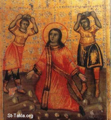 St-Takla.org Image: Saint Stephen (Estephanos, Estafanous) the first martyr and Deacon Ancient Coptic icon ���� �� ���� ������ ����: ������ �������ӡ �������� ���� �������� � ��� ������� - ������ ����� �����
