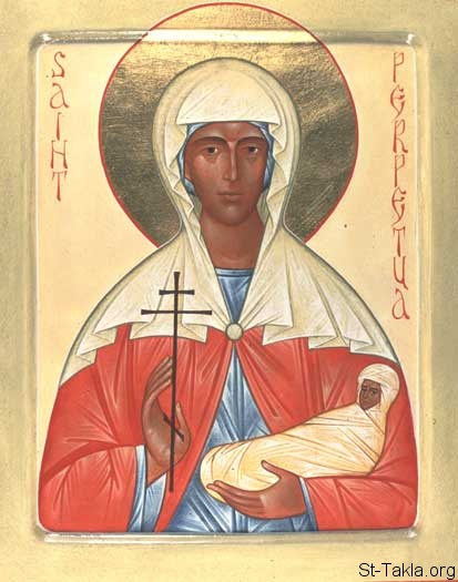 St-Takla.org Image: St. Perpetua icon, by Fr. Andrew Tregubov ���� �� ���� ������ ����: ������ ������� ������� ������ - ��� ���� ����� ��������