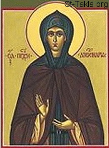 St-Takla.org Image: Saint Syncletica of Alexandria ���� �� ���� ������ ����: ������� ���������� �� ����������