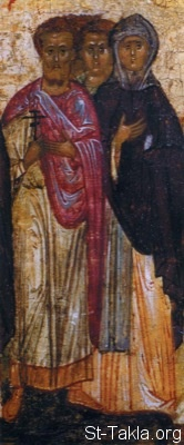St-Takla.org Image: Saints Theopemptus, Theon and Sinklitikiya - Russian icon from the first half of the XVI century (16 c.), museum of Icons, Recklinghausen, Germany ���� �� ���� ������ ����: ������ �������� ������ ������ ������ ������ ���������� ���������� ������ ���� �������� �������� ������������ - ������ ����� �� ����� ����� �� ����� ������ ��ѡ ������ �� ���� ��������ʡ ������������� �������