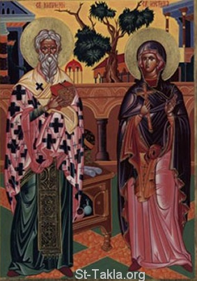 St-Takla.org         Image: Sts. Martyrs Cyprian and Justine ����: �������� �������� ��������