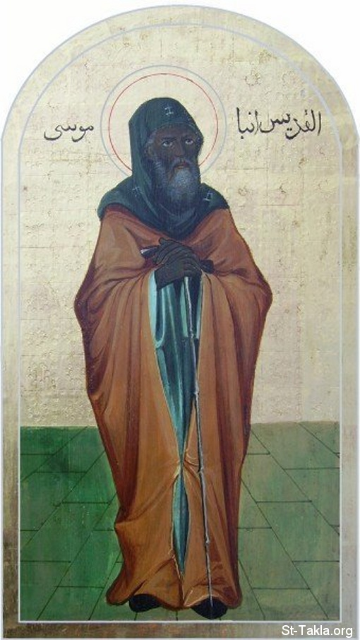 St-Takla.org Image: Saint Moses the black, ancient Coptic icon ���� �� ���� ������ ����: ������ ������ ���� �����ϡ ������ ����� �����
