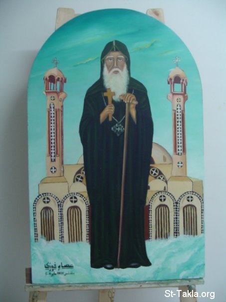 St-Takla.org Image: Saint Moses the black, contemporary Coptic icon by Mr. Essam Fawzy ���� �� ���� ������ ����: ������ ������ ���� �����ϡ ������ ����� ����ɡ ��� ������ ���� ����