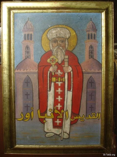St-Takla.org Image: Saint Aba Our, Coptic icon - from St. Reweiss Church, Abbassia, Cairo, Egypt - October 2011 - Photograph by Michael Ghaly for St-Takla.org ���� �� ���� ������ ����: ������ ������ ������ ��� - �� ���� - �� ��� ����� ������ ���ӡ ������������ ��������ɡ ������ɡ ��� - ������ 2011 - ����� ����� ���� ��: ���� ������ ���� �������