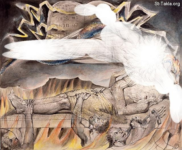 "St-Takla.org         Image: William Blake - Illustrations to the Book of Job, The Butts Set, object 11 (Butlin 550.11) ""Job's Evil Dreams"" - Job 7:13-14 ����: �� ����� ��������� �� ��� ���� - ��� ������ ���� ���� - ����� ���� � �������� ���� ����� ���� - ��� ���� 7: 13� 14"