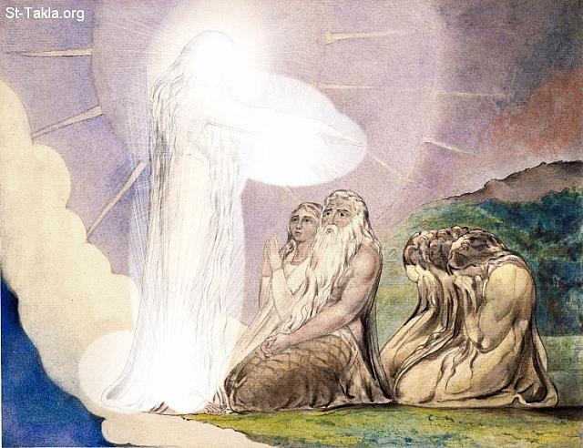 "St-Takla.org         Image: William Blake - Illustrations to the Book of Job, The Butts Set, object 17 (Butlin 550.17) ""The Vision of Christ"" �� ����� ��������� �� ��� ���� - �� ��� ������ ������ ���� - ����: ���� � ���� ������"