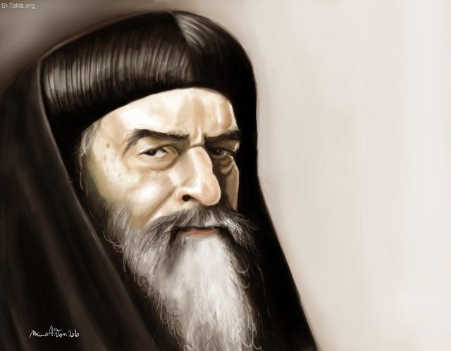 St-Takla.org Image: His Holiness Pope Cyril VI, Coptic Pope 116, used with permission - by Mina Anton ���� �� ���� ������ ����: ����� ������ ������ ������ ����� �����ӡ ������ ������ ��� 116� ������ ���� - ��� ������ ���� �����