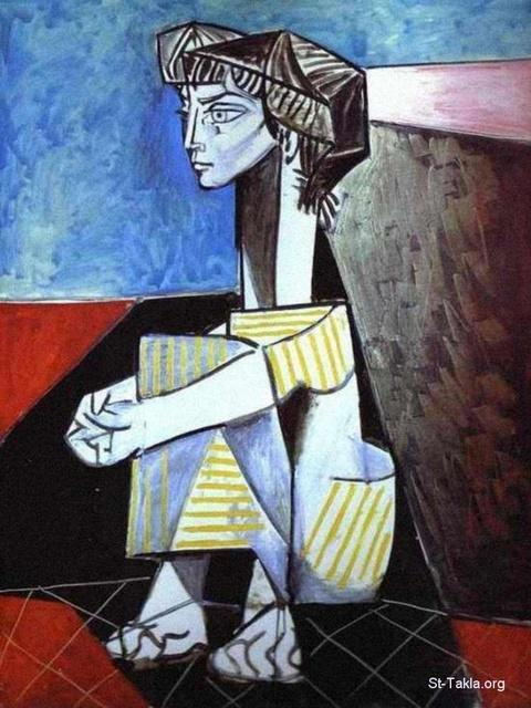 St-Takla.org Image: Picasso, Jacqueline with Crossed Hands, 1954 ���� �� ���� ������ ����: ���� ������ ��� ����� ����ǡ ������ ������ 1954