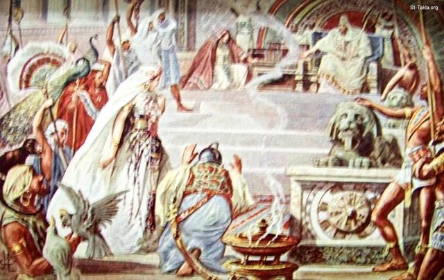 Image: Solomon and the Queen of Sheba<br>صورة