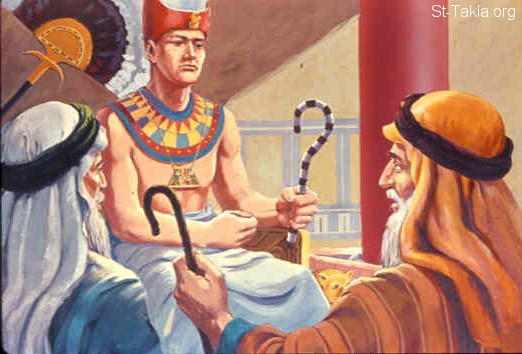 Image: Pharaoh gives false promises<br>صورة فرعون يعطى وعود كاذبة