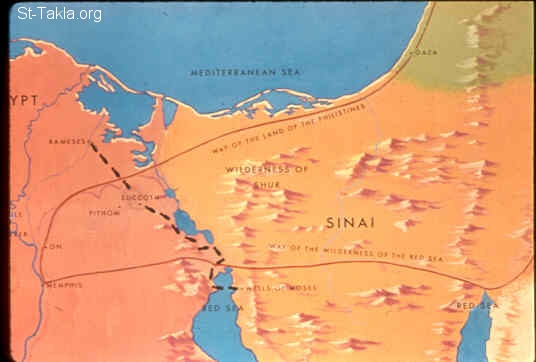 Image: A map for Egypt and Succoth<br>صورة خريطة لمصر وسكوت