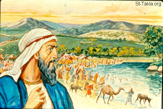 "St-Takla.org Image: Ezra gather the people by the river that flows to Ahava to pray to the Lord (Ezra 8:15-23) صورة في موقع الأنبا تكلا: ""عزرا"" يجمع الشعب عند نهر أهوا ويصلوا للرب (عزرا 8: 15-23)"