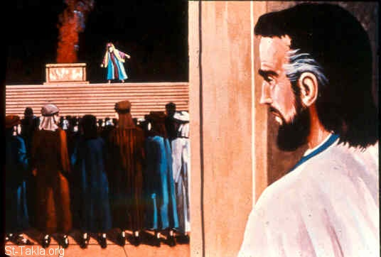 Image: Jeremiah stands in the gate of the Lord's house<br>صورة ارميا يدخل إلى الهيكل