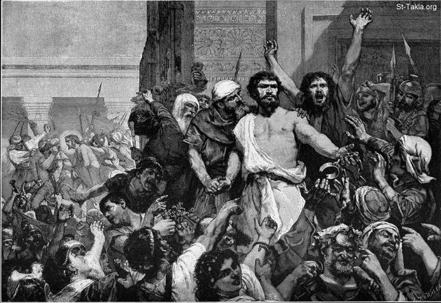 St-Takla.org Image: Give us Barabbas. Charles Louis Muller. John 18:40 - from the Bible and Its Story book ���� �� ���� ������ ����: ���� ��� ������� (������)� ��� ������ ������ ���� ���� - ����� ����� 18: 40 - �� ���� ������ ������ �����