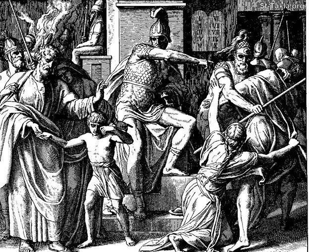 St-Takla.org Image: The Persecution by Antiochus (1 M 1) ���� �� ���� ������ ����: ������ ������� (������� ����� 1)