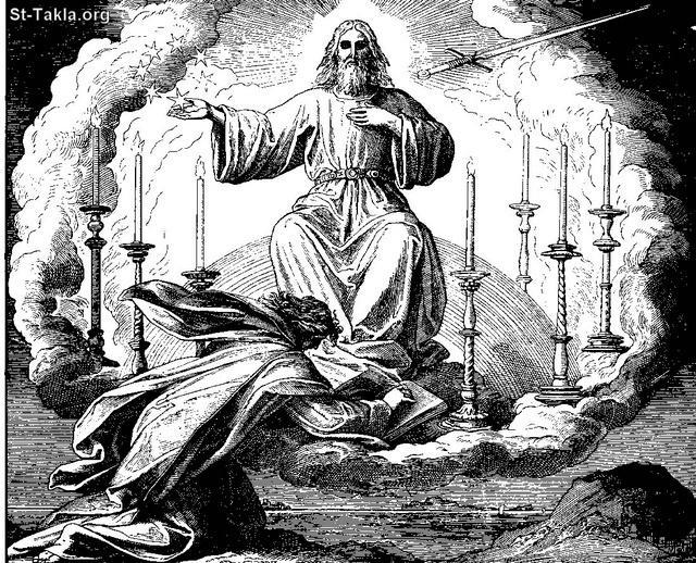 St-Takla.org Image: The Revelation to Saint John the Apostle صورة في موقع الأنبا تكلا: رؤيا القديس يوحنا اللاهوتي و الرسول