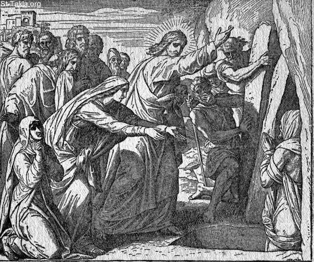 Image: the raising of lazarus from the dead