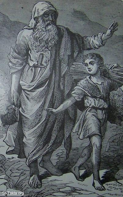 Image: Abraham going up to offer Isaac as a sacrifice