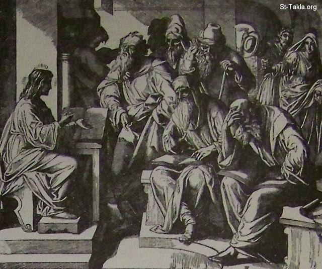 Image: Christ teaches in the temple
