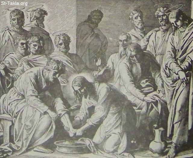 Image: Christ washes his disciples feet