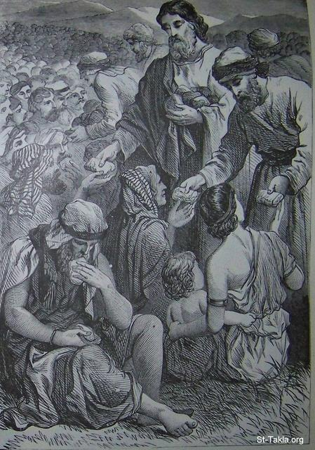Image: Jesus feeding the multitude