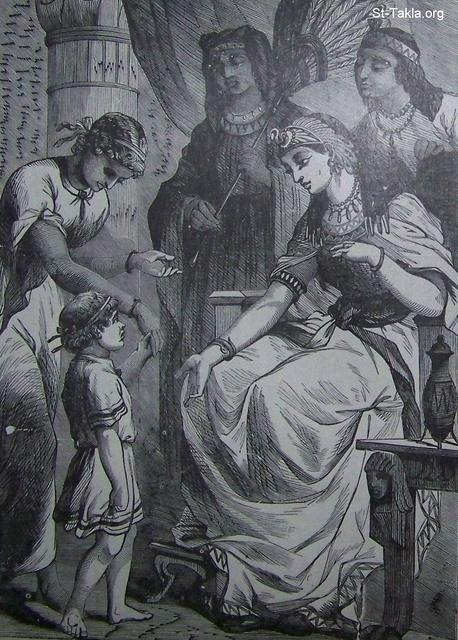 Image: Moses before pharaoh's daughter