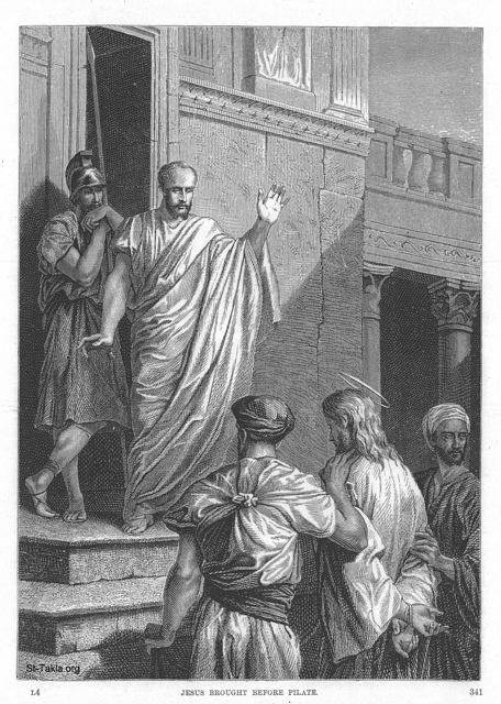 Image: 008 Jesus brought before Pilate