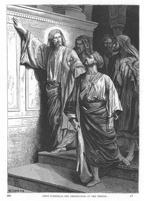 Image: 016 Jesus foretells the destruction of the temple