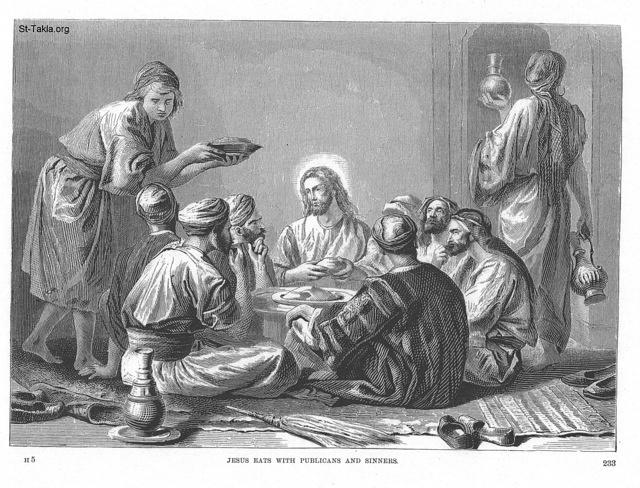 Image: 023 Jesus eats with publicans and sinners