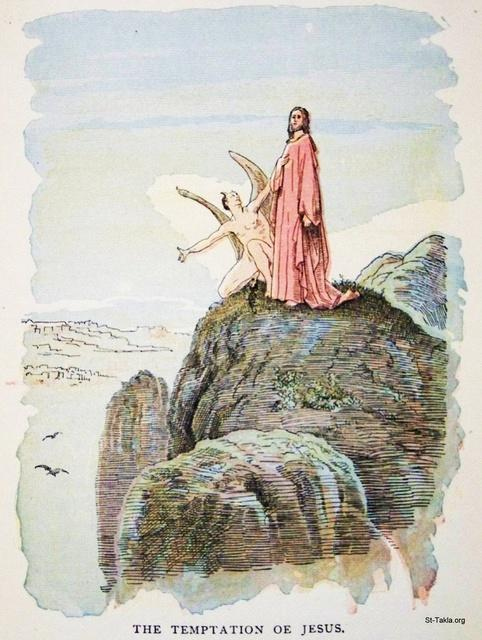 St-Takla.org Image: The temptation of Jesus by the Devil on the mountain ���� �� ���� ������ ����: ����� ������ �� ������� ��� �����