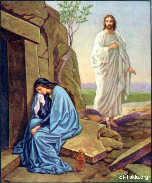 Image: 47 Mary weeping at the tomb