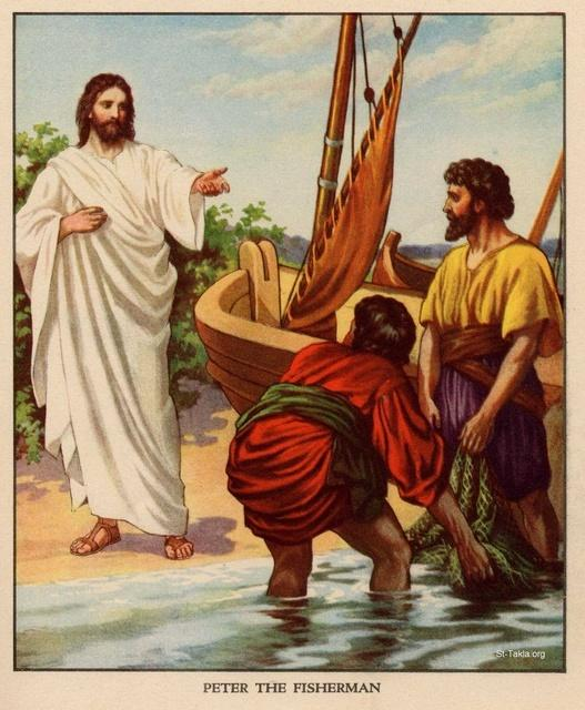 Image: jesus and four fishermen 3