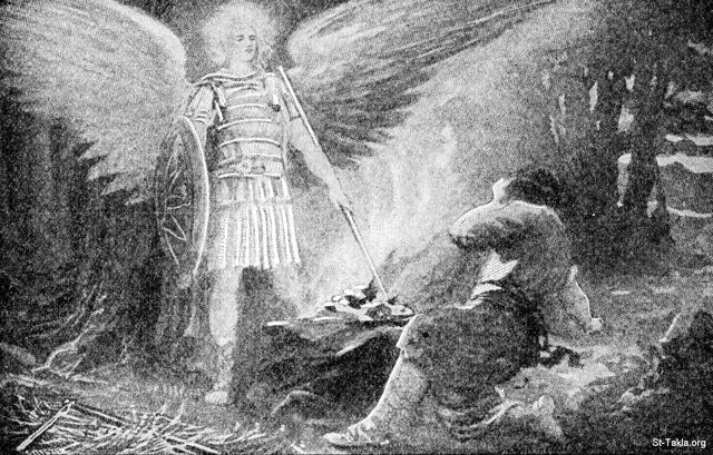 Image: the angel touched gideons offering