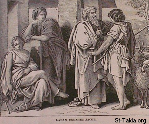 St-Takla.org Image: Laben engages Jacob ���� �� ���� ������ ����: ���� ����� ������