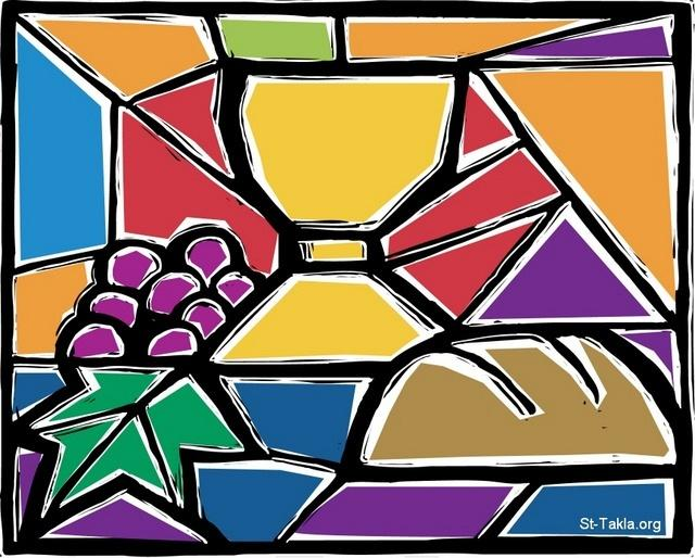 St-Takla.org         Image: The bread and cup (wine), Eucharist, Holy Communion ����: ����� �����ѡ ������� ������ ������
