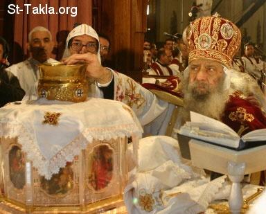 صورة قداسة البابا شنوده الثالث في الصلوات