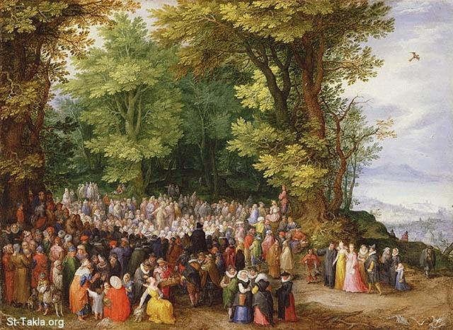 St-Takla.org Image: Sermon of the Beatitudes, by Jan Brueghel the Elder, 1598, Oil on copper, 10 1/2 x 14 1/2 in. ���� �� ���� ������ ����: ���� ����� ���� ������ �� ����� ��� ����� ��� ������ ��� ������ �����ѡ 1598� ��� ��� ���� ����� 10.30�14.30 ����
