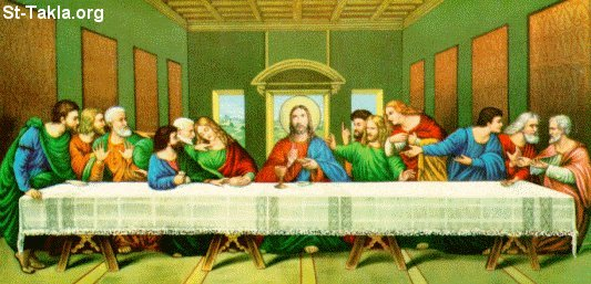 Image: A famous picture of the last supper<br>صورة لوحه شهيرة للعشاء الإخير