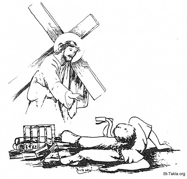 Image: Jesus Carry Cross 07 Boy
